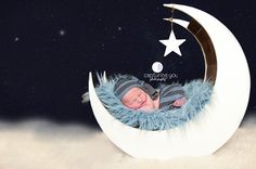 Blue Curly Alpaca Faux Flokati Fur Newborn Photography Prop | Beautiful Photo Props