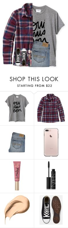 """""""stuff has been happening lately and idek anymore"""" by hgw8503 ❤ liked on Polyvore featuring Sincerely, Jules, Patagonia, Abercrombie & Fitch, Too Faced Cosmetics, NARS Cosmetics, Bobbi Brown Cosmetics and Converse"""