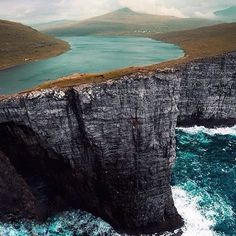 Insta / daydreamplaces: Excellent shot from the coast of the Faroe Islands!! Photo by @kpunkka Via @g