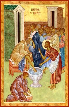 The Washing of the Feet by Michael Kapeluck