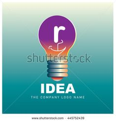 Vector idea logo design with letter R. Icon and template for company identity - stock vector