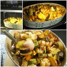 Briam, Paella, Shrimp, Meat, Healthy, Ethnic Recipes, Food, Flowers, Essen