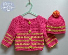 Child's Pink Sweater & Hat