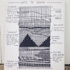 Basic weaving techniques by Christabel Balfour