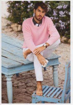 The Antonio Navas Euroman Editorial Features Fresh Colors trendhunter.com