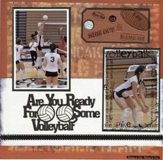 volleyball scrapbook layouts
