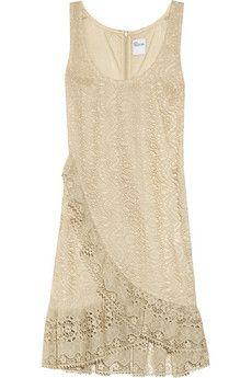 ruffled cotton lace dress