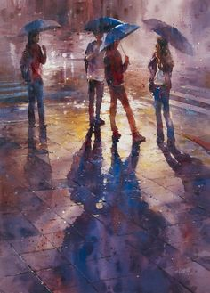 Rainy Watercolor by Lin Ching Che