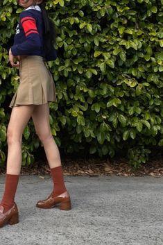 @pameluft in Preppy Skirt (Khaki) #preppyskirt #schoolgirl #tennisskirt #khaki #summeroutfits #schooloutfits #greenaesthetic #schoolaesthetic Pleated Skirt, Waist Skirt, School Outfits, Summer Outfits, Preppy Skirt, Schoolgirl, Preppy Style, Casual, Skirts