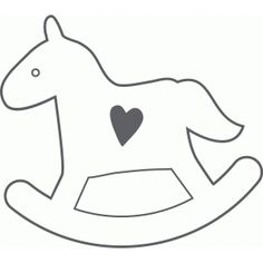 I think I'm in love with this design from the Silhouette Design Store! Penny Rug Patterns, Applique Patterns, Applique Ideas, Paper Crafts For Kids, Felt Crafts, Moldes Para Baby Shower, Christmas Stencils, Dinosaur Crafts, Horse Pattern