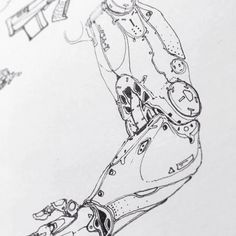 "edonguraziu: ""Here are a couple of sketches I did over the past months. Bionic Arms and robotics. ~ EDONGURAZIU """