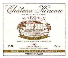 Chateau Kirwan Margaux 1983 Wine Label