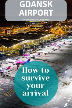 Read our comprehensive guide to Gdansk Airport. What to expect, what to see, where to shop and where to catch your bus or taxi. Stuff To Do, Things To Do, Gdansk Poland, Ultimate Travel, Survival Guide, Taxi, Travel Guide, Polish, Group