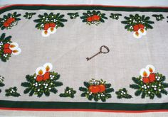 Christmas Vintage Table Runner Holiday Decor by SecretGardenHerbs, $10.00