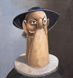 <b>George Condo</b> <i>Don Pesto</i>, 2006 Oil on canvas 30 x 28 inches (76.2 x 71.1 cm.)