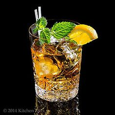 Brandy Smash Cocktail (similar to a mint julep) @kitchenriffs
