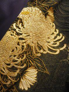 crysanthème brodé
