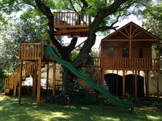 Unique tree house designs to suit your budget built from high grade pine wood. Play Houses, Tree Houses, Tree House Designs, Unique Trees, This Is Us, New Homes, Cabin, House Styles, Insulation