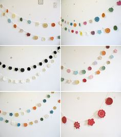 crochet garland... choose your own colours - flowers | Emma Lamb