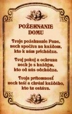 Obrázok - Požehnanie domu a Zasvätenie sa Panne Márii - Obrázok laminovaný s modlitbou Diy And Crafts, Religion, Sayings, Life, Astrology, Psychology, Lyrics, Religious Education, Word Of Wisdom