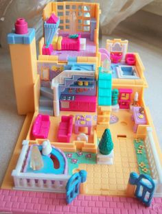 1994 Vintage Polly Pocket Light Up Hotel Pollyville Bluebird Toys Complete Set | eBay