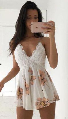 #summer #flirty #outfitideas | Feminine Playsuit