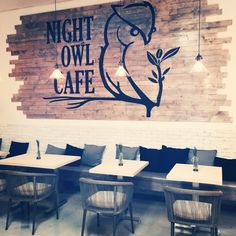 If I ever started my own cafe, this is what Id call it! Night Owl Cafe