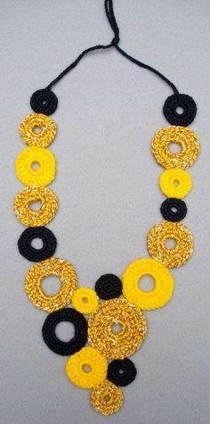 Collares y Accesorios a Crochet de Lana #bisuteriafina #bisuterias #anillosbisuteria #anillos #Bisuteriabarata