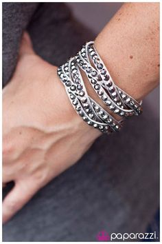 NEW leather and rhinestone snap bracelets only $5 each~!!  www.paparazziaccessories.com/vegasbling