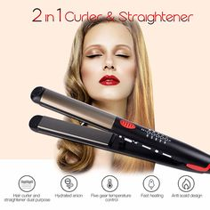 Top Ceramic Hair Straightening Iron Flat Irons LED Hair Tools Professional Curling Hair Straightener Hair curlers 50