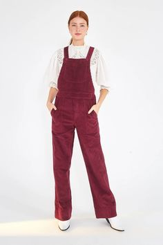 CORDUROY OVERALLS – Farm Rio Dungarees, Overalls, Farm Rio, Corduroy, Legs, Cloths, Model, Cotton, How To Wear