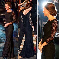 vestidos-longos-de-kate-middleton-preto-renda-diane-von-furstenberg