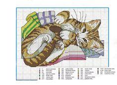 patrones punto de cruz solo felinos (pág. 29) | Aprender manualidades es facilisimo.com