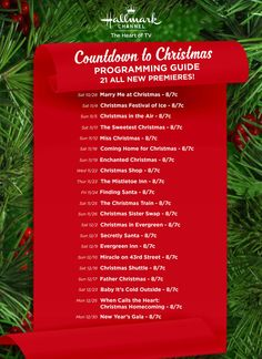 Hallmark has released the Christmas movie schedule for so now it the time to plan to stay home so you can enjoy some of the best holiday movie marathons! Hallmark Movies 2017, Hallmark Holiday Movies, Hallmark Weihnachtsfilme, Best Holiday Movies, Christmas Movies List, Hallmark Holidays, Hallmark Channel, Holiday Fun, Festive