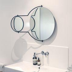 Orbit Wall Mirror - Black | OMK 1965