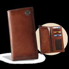 Wildlife Series Premium Leather Pocket Secretary Wallet with Concho (200710)