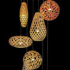 Nature inspired pendants by David Trubridge.