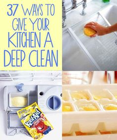 37 Ways to Give Your Kitchen a Deep Clean. Kinda obsessed with cleaning my kitchen