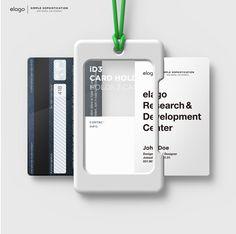 New, elago Card Holder. Lanyard Designs, Card Storage, Id Wallet, Identity Design, Brand Identity, Id Badge, Corporate Design, Leather Design, Packaging Design