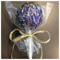 Part of our Mardi Gras Collection! Live in the New Orleans area and want to order these delectable treats? The Cake Pop Shoppe has catered for birthday parties, bridal showers, baby showers, holiday parties, weddings, and more and we would LOVE to create a special design for your next event! Email us at cakepopshoppenola@gmail.com to request an order form and Like us on www.facebook.com/cakepopshoppenola to receive 10% OFF your first order of 25+ cake pops, cake balls, and/or cupcake pops!