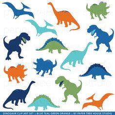 Clip+Art-Set++Dinosaurier++TRex+von+papertreehousestudio+auf+Etsy