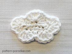 Free Crochet Pattern: Cloud Applique