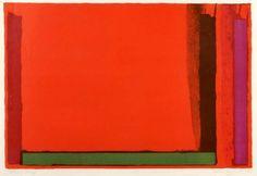 Small Swiss Red - John Hoyland, 1968, lithograph