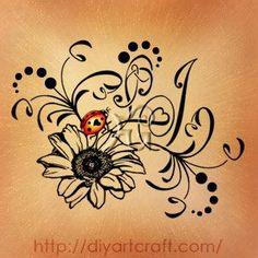 Top Tattoos, Cover Up Tattoos, Small Tattoos, Tatoos, Tattoos For Daughters, Sister Tattoos, Ladybird Tattoo, Lillies Tattoo, Lady Bug Tattoo