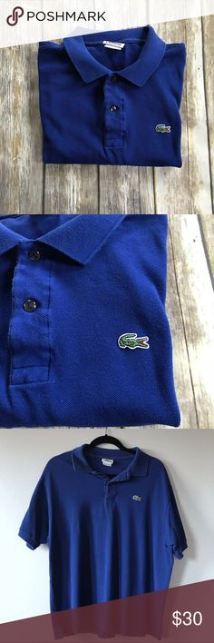 Lacoste Classic Polo Shirt Classic Fit Ribbed Collar and Armbands Cotton Size 7 (XL)- see last slide for specs on size  Has slight fading but overall good condition Lacoste Shirts Polos