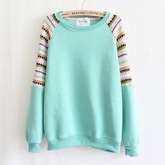 Embroidery knitting women's fleece sweater