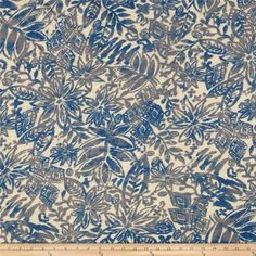 Rayon Slub Jersey Knit Packed Floral Royal Blue/Beige from @fabricdotcom  This jersey knit fabric has an ultra soft hand, a fluid drape and 40% stretch across the grain. This fabric is perfect for creating stylish tops, tanks, lounge wear, gathered skirts and flowing dresses with a lining.