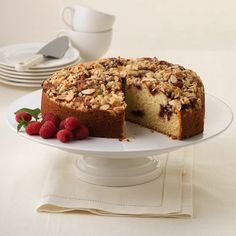 Raspberry Almond Streusel Coffee Cake Recipe from Land O'Lakes