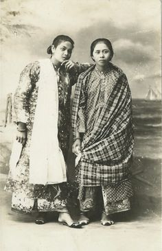 Carte Postale - honouring more unknown sisters from the past. Ceylonese I am guessing, but happy to be corrected