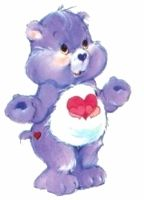 The original Harmony bear with 3 hearts instead of a colourful flower